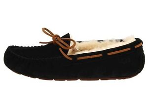 7725e154330 Details about UGG DAKOTA Black Women's Moccasin Slippers 5612