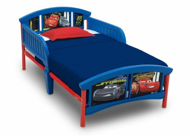 Delta Children Disney/Pixar Cars Plastic Toddler Bed Blue ...