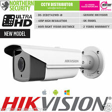 HIKVISION 16mm 4MP 1080P P2P WDR 80M IR POE WHITE BULLET IP SECURITY CAMERA CCTV