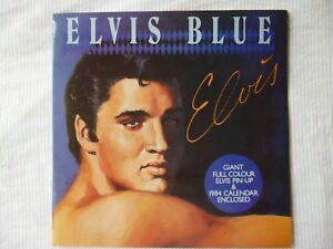 Elvis-Blue-Rare-Orig-1983-LP-Aust-Pressing-PLUS-ORIG-GIANT-POSTER-CALENDAR