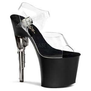 7a2bee5ded3 Image is loading PLEASER-Sexy-Exotic-Dancer-Clear-amp-Black-Platform-
