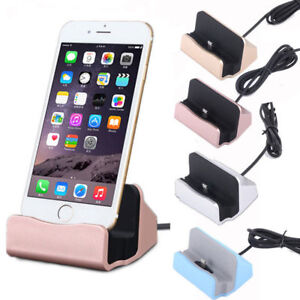 Details about For iPhone 5s 6 6s 7 Plus Desktop Charger Stand Dock Station Sync Charge Cradle