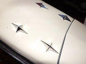4No-FALBO-COMET-4-POINTED-CHROME-PLATED-STARS-ULMA-VIGANO-LAMBRETTA-VESPA