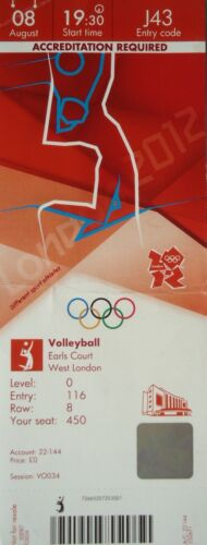 Russland J43 TICKET Olympia 8.8.2012 Men/'s Volleyball Polen