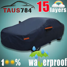 Multi Layers Full Car Cover Waterproof Breathable Outdoor All Weather Protection