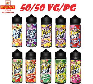 E-Cig E Liquid 100ml Frooti Tooti 50/50 VG/PG Vape Juice 0mg Shortfill 🔞