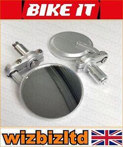 Bikeit-Paar-Silber-Phoenix-Lenkerende-Halterung-Universal-Spiegel-MRU026