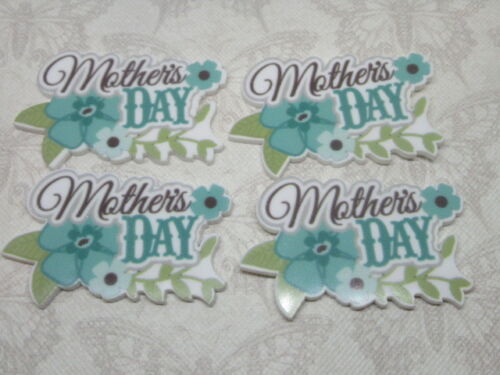 Mothers Day Resin FlatBack Planar X4 Cabochon Decoden Craft Embellishment