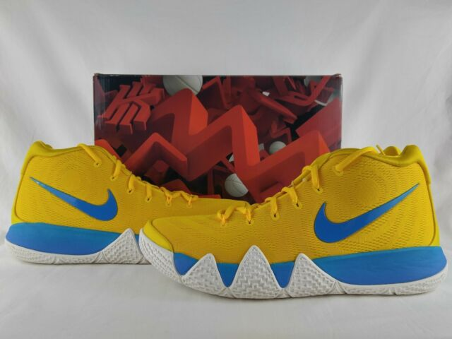 a68bd4f50e0 Nike Kyrie 4 IV Kix Amarillo Multi-Color Yellow Blue Cereal Pack BV0425-700