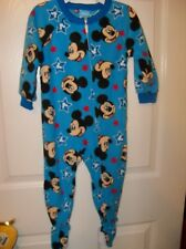 7fc448034 Toddler Boys Mickey Mouse One-piece Zip Footed Fleece Pajama 2t