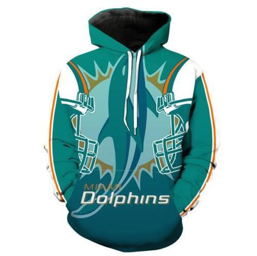 Hat hoodie Miami Dolphins printed Pullover Pocket hoodies M-6XL Hoodies