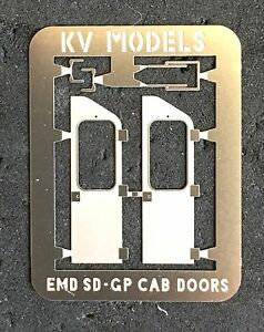 Image is loading ETCHED-EMD-CAB-DOORS-SD-AND-GP-SERIES- & ETCHED EMD CAB DOORS SD AND GP SERIES HO SCALE KV MODELS Pezcame.Com