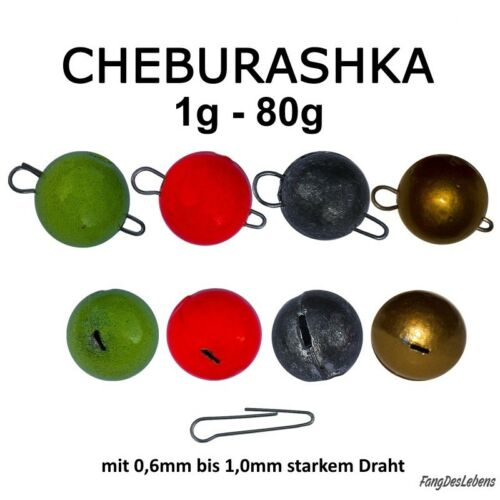 Vorschalt- Kugelblei Wide Gap Cheburashka *Fischkopf* 3er SET NATUR 11-31g