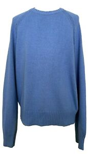 NEW-BROOKS-BROTHERS-RED-FLEECE-MEN-039-S-COTTON-BLUE-SWEATER-M-195