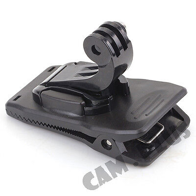 Sun Visor Backpack Hat Clip Clamp Mount for GoPro HD Hero 3 3+ 4 SESSION