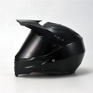 DOT-Carbon-Fiber-Offroad-Helmet-Motorcycle-Motocross-Helmet-Full-Face-Sun-Visor