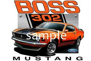1970 Ford BOSS Mustang 302 Muscle Car Tshirt NWT