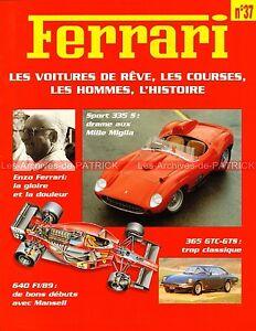 FERRARI-640-F1-89-365-GTC-GTS-335-S-Jean-ALESI-Dino-FERRARI-Fascicule-37
