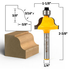 38 Roman Ogee Edge Forming Router Bit 14 Shank Yonico 13187q