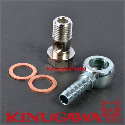 "6.35mm Hose Barb Kinugawa Turbo Water Banjo Fitting M8x1.25 to 1//4/"""