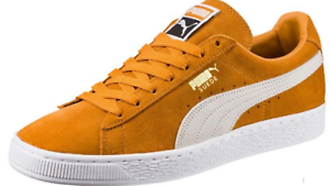 PUMA SUEDE CLASSIC+ LOW SNEAKER MEN SHOES INCA GOLD WHITE 363242-23 SIZE 8.5 NEW