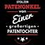 Stolzer Patenonkel Herren T-Shirt Geschenk Idee Geburt Paten Kind Patentochter