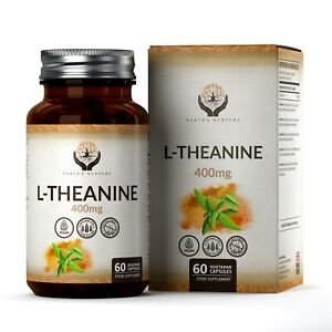 L-Theanine-400mg-60-Capsules-Vegetaliennes-Aide-Nootropique-Contre-Stress