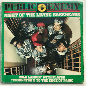 Public-Enemy-Night-Of-The-Living-Bassheads-Vinyl-Record-Original-1988-Hip-Hop