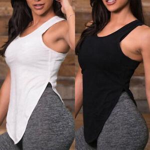 Womens-Vest-Workout-Tank-Tops-T-Shirt-Sport-Gym-Fitness-Yoga-Sleeveless-Shirt