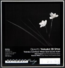 Bergger Variable CB Style  Warm Semi-Gloss Ivory Photographic Paper 8 x 10
