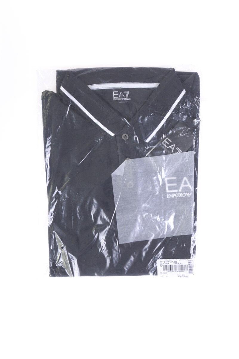 Polo Emporio Armani EA7 Shirt Cotone Uomo Uomo Uomo Blu 3YPF54PJ03Z 1578 55ac37