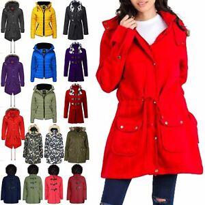 Womens-Ladies-Parka-Trench-Long-Fishtail-Hooded-Faux-Fur-Brave-Soul-Coat-Jacket