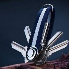 Wide Black Belt Loop Split Ring Metal Keychain Key Holder DTUS