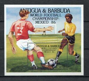 S5920) Antigua & Barbuda 1986 MNH Wc Football '86 - CM FOOTBALL S/S
