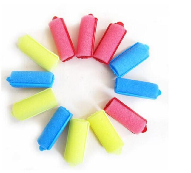 12Pcs/bag Magic Sponge Foam Cushion Hair Styling Rollers Curlers Twist Tool NMCA