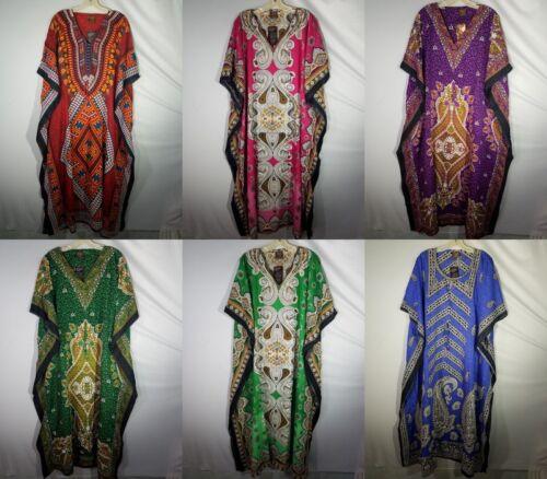 Women Caftan Dashiki Cocktail long dress house Lounger Casual Kaftan Plus Size