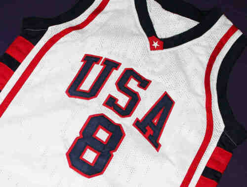 CARMELO ANTHONY Jersey TEAM USA JERSEY White SEWN NEW ANY SIZE