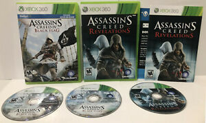 ASSASSIN'S CREED  Black Flag +  Revelations ! XBOX 360 ! Lot of 2 Games !