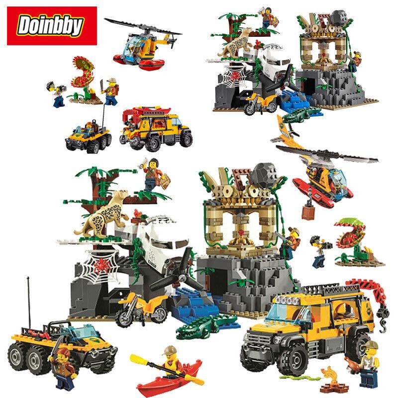 Ville Explorateurs Jungle Exploration site 870 pcs Bloc de construction  briques avec figurine  service honnête