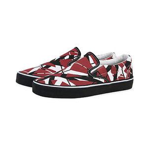 EVH Eddie Van Halen Slip-On Shoes Rock Music Band Art Striped Sneakers EV1100 | eBay