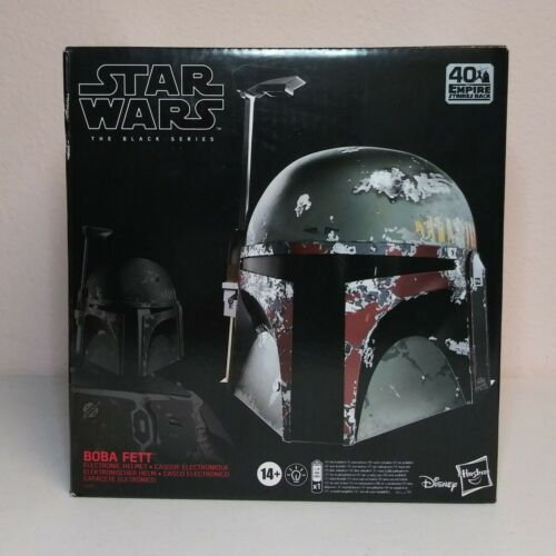 Star Wars The Black Series Boba Fett Premium électronique Casque Neuf Scellé