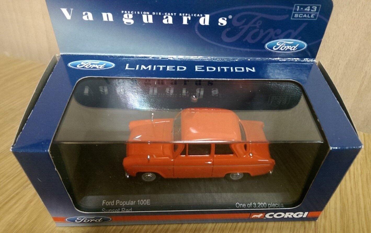 Corgi VA02110 Ford Popular 100E Sunset Red Ltd Edition of 3200