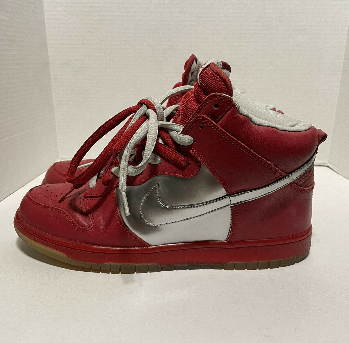 2006 Nike Mork And Mindy SB Dunk High Red/silver … - image 4