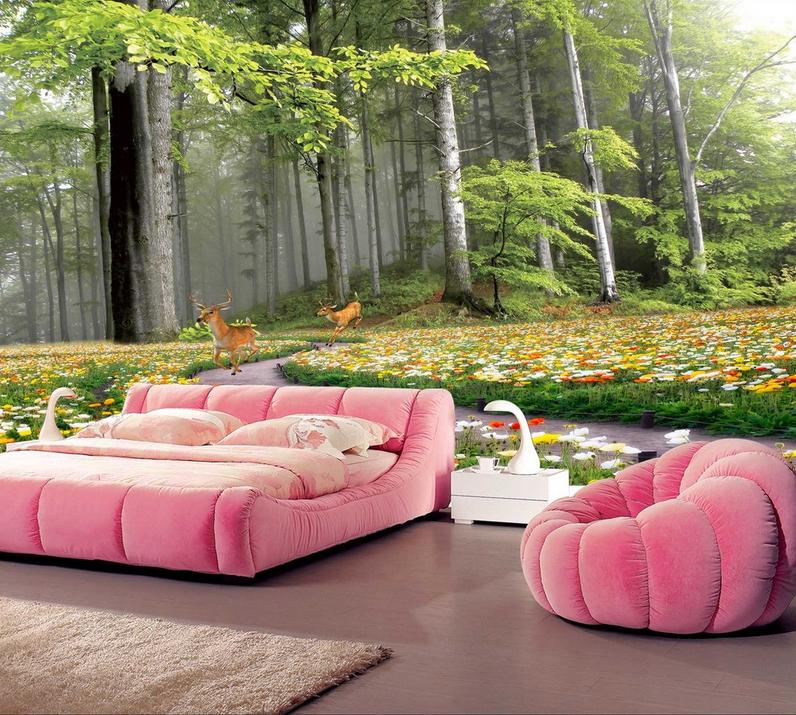 3D Wald Garten Hirsch 9 Tapete Tapete Tapete Wandgemälde Tapete Tapeten Bild Familie DE Summer | Internationale Wahl  | Modernes Design  | Starker Wert  588ec6