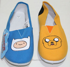 363c605438 NEW ADVENTURE TIME WITH FINN JAKE CANVAS SLIP ON SHOES SLIPPERS ...