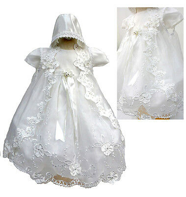 BABY INFANT TODDLER GIRL CHRISTINING BAPTISM Dress Gown Size 0 1 2 3 4 (0-30 Mo)