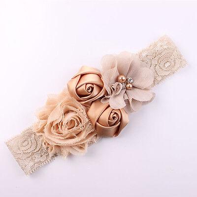 Lace Flowers Design Hairband Turban Headwear For Newborn Infant Hair Accessories