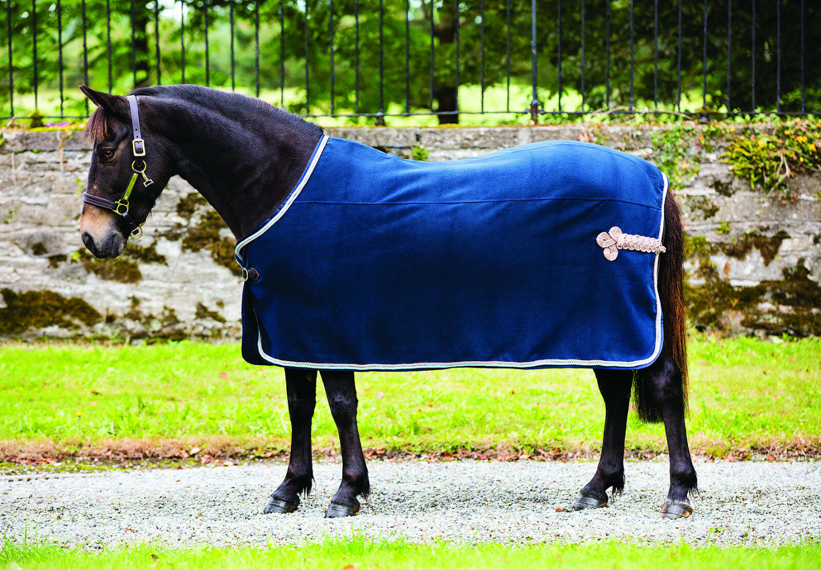 Horseware Rambo mostrar Alfombra De Lana Lana Lana de vellón Premio Alfombra Ornamento De Cadera Azul Marino Negro 3' 9  -7' 3  f3b67f