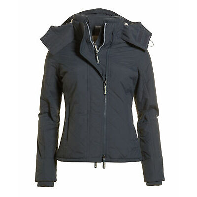 Superdry Mujer Chaqueta Hooded Sherpa Quilted Mid Charcoal