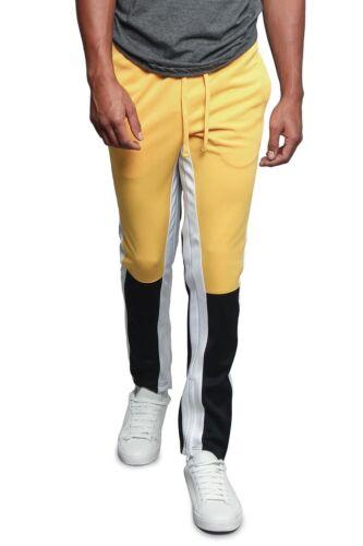 Victorious Men/'s Slim Fit Color Blocked Sports Workout Techno Track Pants S~5XL